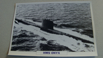 1966 HMS Onyx Submarine warship framed picture